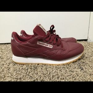 Reebok Classics Red Shoes Size 9